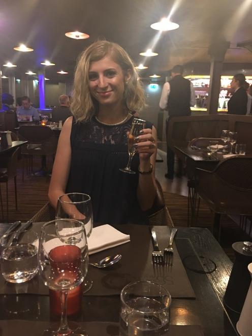 21st birthday! Eiffel Tower dinner.